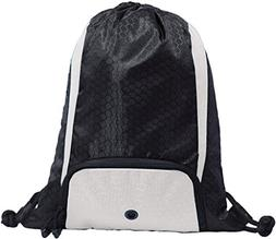 "Ddi 14"" Santa Cruz Drawstring Pack - Black/white"