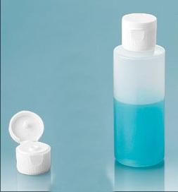 Save Money! 12 Bottles Travel Bottle 1 Oz HDPE White Flip To