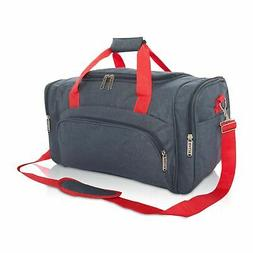 DALIX Signature Travel or Gym Duffle Bag in Navy Blue with R