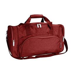 DALIX Signature Travel or Gym Duffle Bag in Maroon