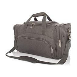 DALIX Signature Travel or Gym Duffle Bag in Gray