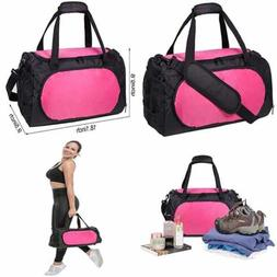 MIER SMALL Duffel Bag Sports Gym For Women & Girls W Shoes C