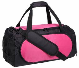 MIER Small Gym Sports Bag for Men and Women with Shoes Compa