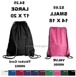 Small OR Large Liberty Bags Drawstring Backpack Cinch School