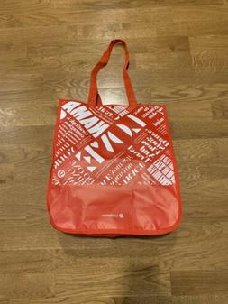 Lululemon Solid Red Manifesto Large Reusable Tote Carryall G