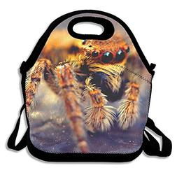 Jingclor Spider Macro Pattern Insulated Portable Reusable Pi