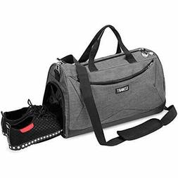 """Sport Gym Bag With Shoe Compartment """" Wet Pocket Travel Duff"""