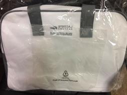 LACOSTE  Sport Gym Travel Overnight Bag White and Grey NEW