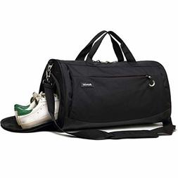 Kenox Sports Gym Bag Travel Duffle Bag Luggage with Shoes Co