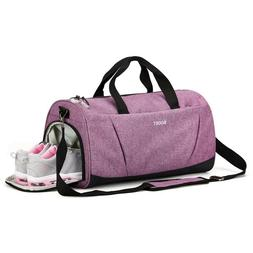 Sports Gym Bag with Wet Pocket & Shoes Compartment for Women