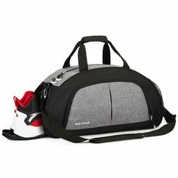Sports Gym Bag with Wet Pocket & Shoes Compartment Travel Du