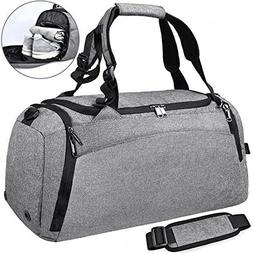 9c29e79710bc NEWHEY Sports Gym Duffel Bag with Shoe C...