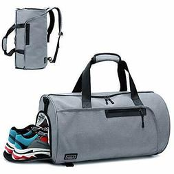 BLUBOON Sports Gym Duffel Bag With Shoe Compartment For Men