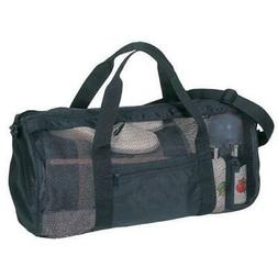 Sports Gym Mesh Roll Bag Black Duffel Bags Travel Shopping W