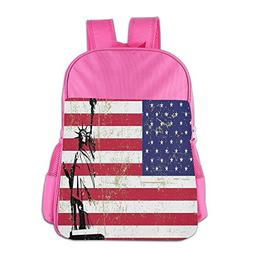 Statue Of Liberty And USA Flag Children School Backpack Funn