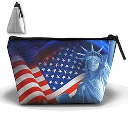 Statue Of Liberty And USAflag Trapezoid Receive Bag Multifun