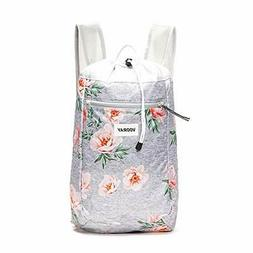 Vooray Stride 16L Cinch Drawstring Backpack, Rose Gray