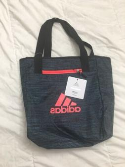 Adidas Studio II Tote Bag Blue And Pink Lettering One Size N