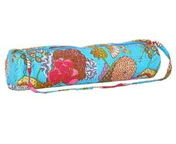 Stylish Yoga Mat Bag for Women Hand Embroidered in India - Q