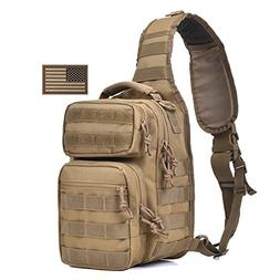 Tactical Sling Bag Pack Military Shoulder Sling Backpack Sma