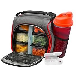 d30157c5355d Thermal Insulated Lunch Bag Bento Box - Kit with 6 Leakproof
