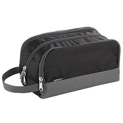 Toiletry Bag Black, Yeiotsy Super Light Travel Shaving Kit B
