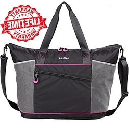 Gym Tote Bag for Women Large Beach Totes Bags with Roomy Poc