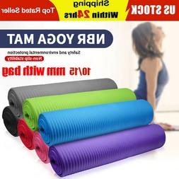 TPE 15-20 MM Thick Yoga Mat with bag Exercise Pilate Gym Non
