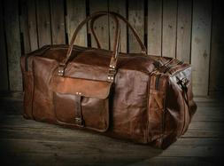 Travel Duffel Bags for Men Leather Overnight Weekend Leather
