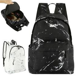 travel school bag ergonomic marble print portable