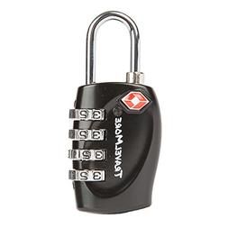 1 Pack TSA Approved Luggage Locks for Travel Safety, Small 4
