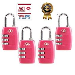 TSA Luggage Locks  - 3 Digit Combination Padlocks - Approved