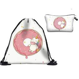 Unicorn Drawstring Backpack Travel Gym Bags Printing Rucksac