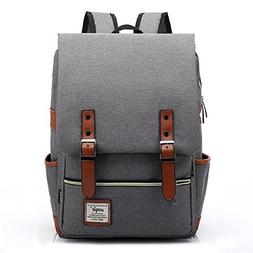 Vintage Canvas Backpack - Lightweight Canvas Laptop Outdoor