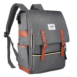 Vintage Laptop Backpack, Canvas College Backpack School Bag
