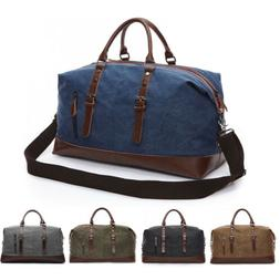 vintage men canvas travel duffle bag gym