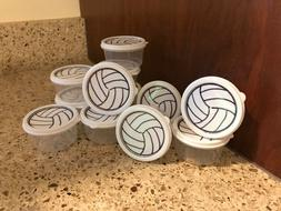 Volleyball Gym Bag Jewelry Box Container Set of 12 Great Tea