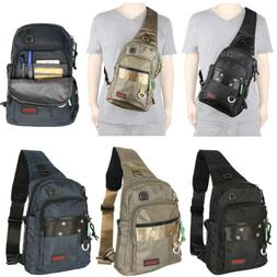 Waterproof Men Sling Bags Backpack Gym Bag Crossbody Bags Pu