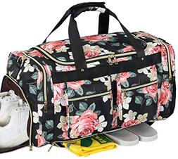 Weekender Overnight Duffel Bag Shoe Pocket for Women Men Wee