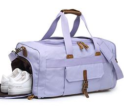 Weekender Overnight Duffel Bag with Shoes Compartment for Wo