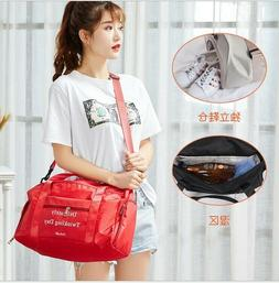 Women's Hand Travel Luggage Handbag Sports Gym Shoulder Bag