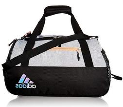 adidas Women's Squad III Duffel Bag,One Size ,White Gripe/Bl
