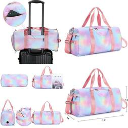 Womens Travel Bags Sport Gym Duffle Weekender Carry On Worko