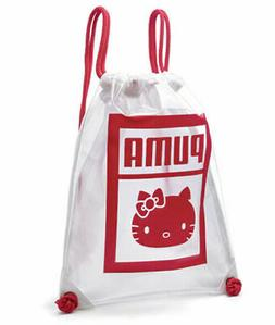 Puma x Hello Kitty Gym Sack Girls Womens Bag Clear 075523 01