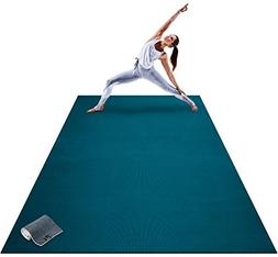 Premium Extra Large Yoga Mat - 9' x 6' x 8mm Extra Thick & C